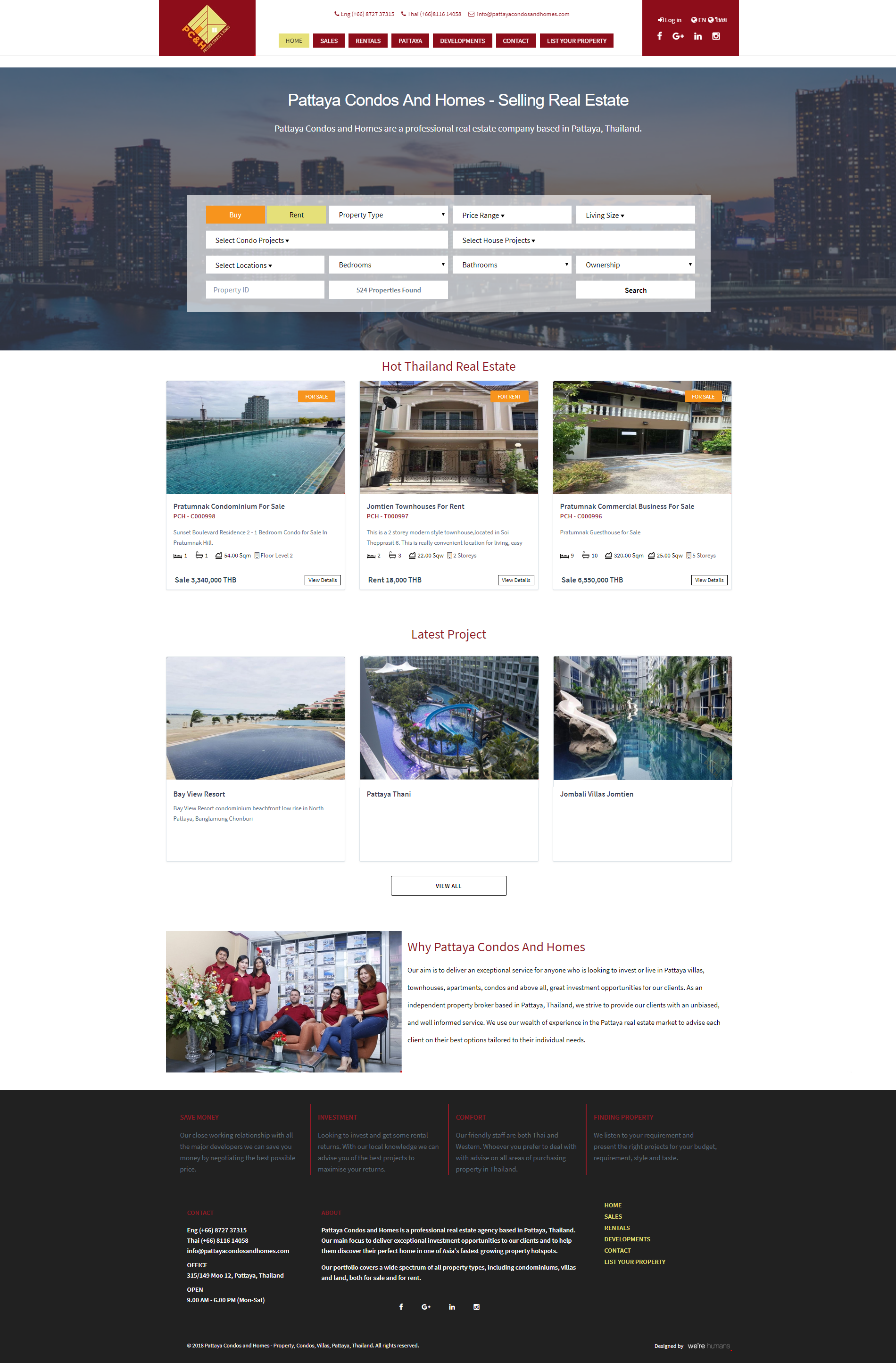 Pattaya Property and Real Estate Thailand Services